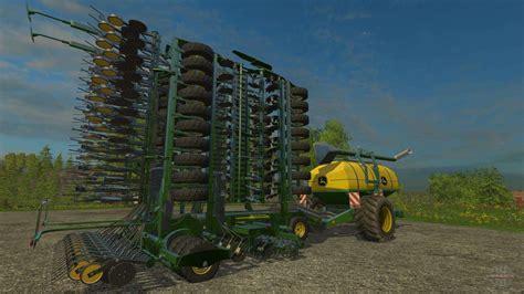john deere pronto air seeder   farming simulator