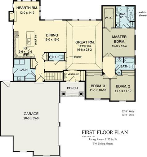 floor plan of ranch house plan 54037 skip hearth