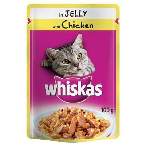 whiskas pouch 100g 24 48 value cat food rabbit chicken