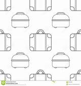 Bags Illustration Seamless Coloring Pattern sketch template