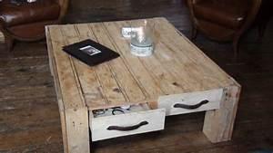 Table Basse Palettes : tables et tables basses maison artur stiles ~ Melissatoandfro.com Idées de Décoration