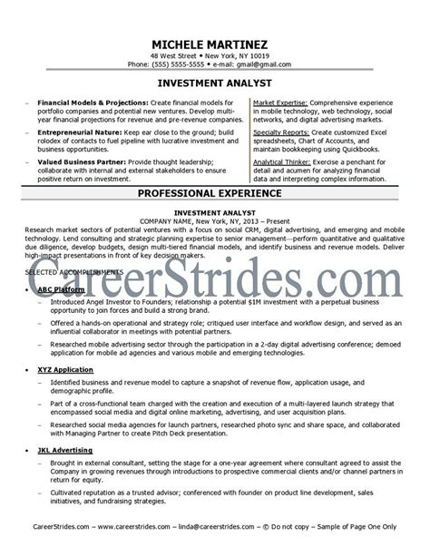 Investment Analyst Resume Format network technician resume sle exle quotes