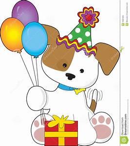 Cute Puppy Birthday stock vector. Illustration of head ...