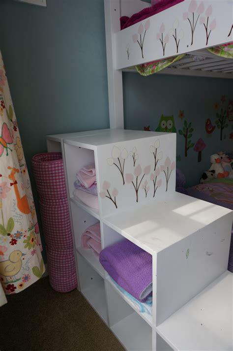 kids bunk bed  storage stairs ana white