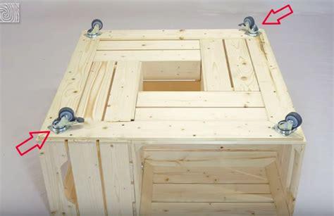 fabriquer une table basse avec des caisses de vin magazines design et tables