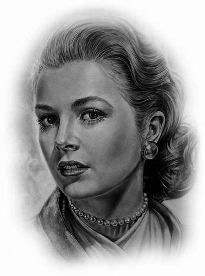 Grace Kelly Pencil Portrait Dessin Drawings Uploaded