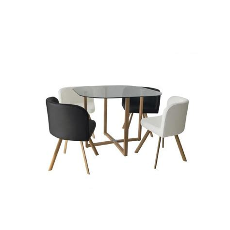 table encastrable cuisine ensemble table 4 chaises encastrable noir et blanc flen