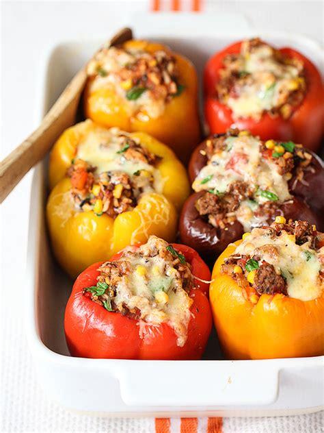 stuffed bell pepper recipe stuffed bell peppers recipe foodiecrush