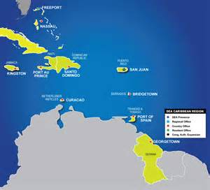 Map Caribbean Region