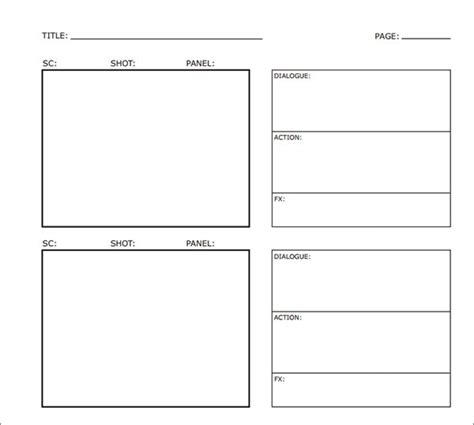 storyboard samples   ms word apple pages