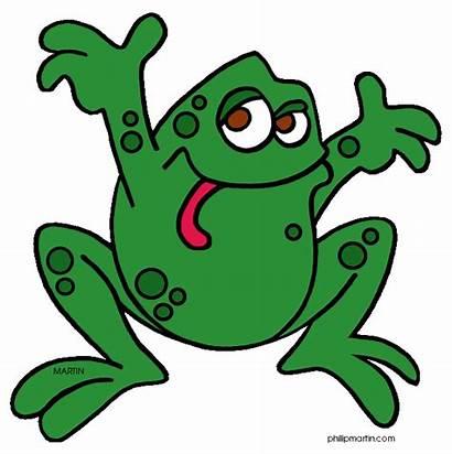 Frog Rainforest Clipart Animals Background Clip Cartoon