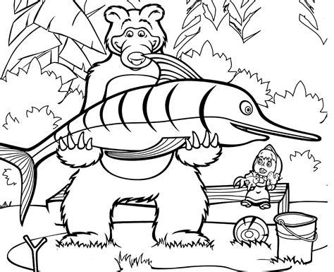 disegni di mascia e orso da colorare disegni di masha e orso da colorare