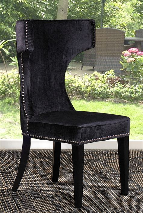 alto modern black fabric dining chair dining chairs