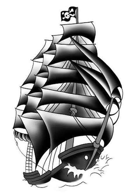 9+ Pirate Ship Tattoos Designs