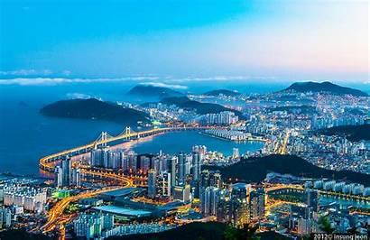 Busan Korea Summer Beaches Enjoy Skyline Seattle