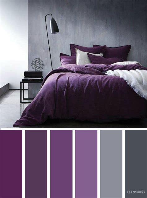 Gray Black And Bedroom Color Scheme by Grey And Purple Color Inspiration Color Palettes