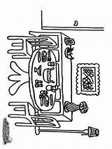 Coloring Dining Pages Preschooler Coloringtop sketch template