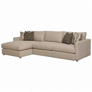 bassett allure contemporary sectional with left arm facing With bassett sectional sofa with chaise