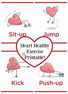Heart Healthy Exercise Printable - FREE! Make and Takes