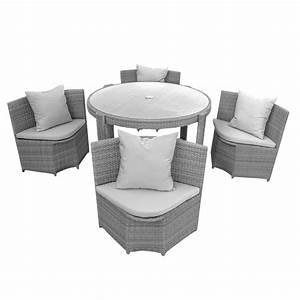 Polyrattan Tisch Grau : gartenm bel sitzgruppe m bel grau polyrattan 1 tisch 4 gartensessel polster ~ Indierocktalk.com Haus und Dekorationen