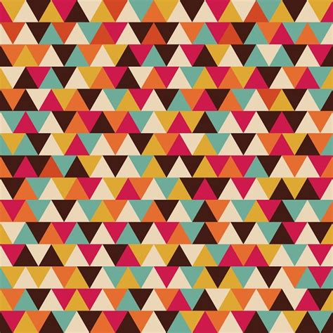 retro triangle seamless pattern ~ Patterns ~ Creative Market