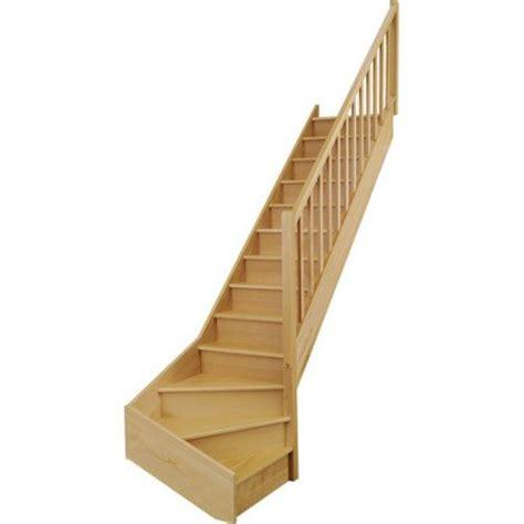 escalier quart tournant haut et bas gauche soft wood structure bois marche bois leroy merlin