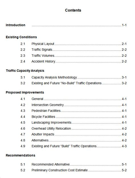 microsoft word table of contents table of contents 22 free word pdf documents download