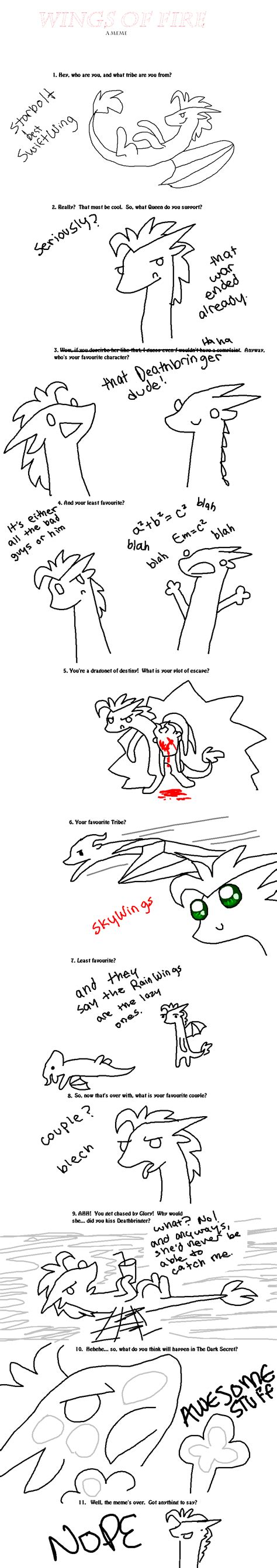 Wings Of Fire Memes - wings of fire meme starbolt by liighty on deviantart
