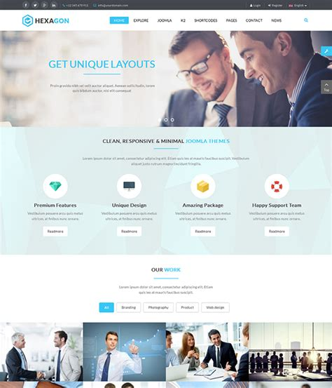 cool joomla templates free download best 10 free pro multipurpose business joomla templates 2018