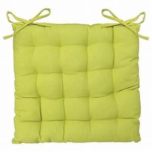 Coussin Vert Anis : coussin de chaise 38x38cm vert anis ~ Teatrodelosmanantiales.com Idées de Décoration