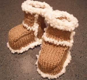 Baby UGG Boots Knitting Pattern