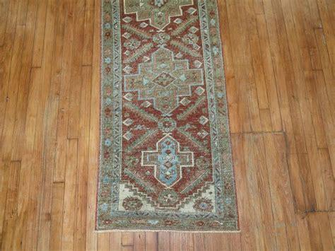 shabby chic runner rug shabby chic persian heriz runner for sale at 1stdibs