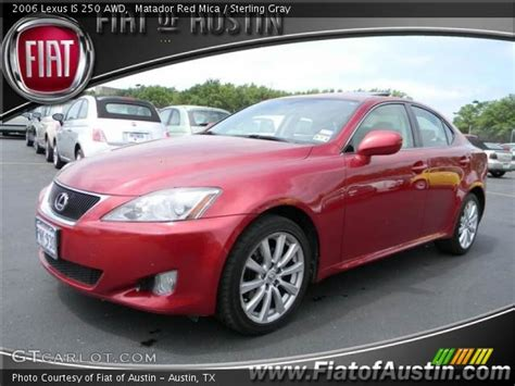 red lexus is 250 2006 matador red mica 2006 lexus is 250 awd sterling gray