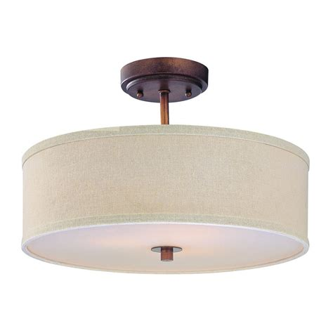 Bronze Drum Shade Ceiling Light 16 Inches Wide Dcl