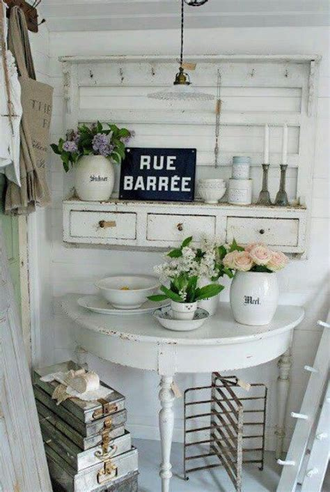 pictures of cottage kitchens demilune table and hanging shelves home decor 4199