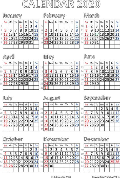 calendar ireland printable printable
