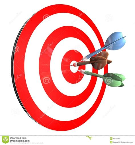 Achieving Goals Abstract Concept With Darts Isolated