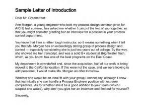 letter of introduction resume exles sle letter of introduction letter of introduction template