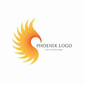 Phoenix silhouette logo template Vector | Free Download