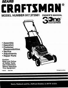 Sears 917 373981 Users Manual