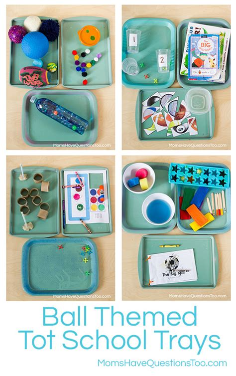 themed tot school trays questions 492 | Ball Themed Tot School Trays Moms Have Questions Too