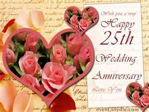 25 year wedding anniversary happy 25th wedding anniversary pictures photos and images for and