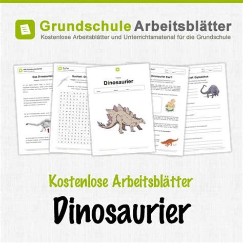 dinosaurier kostenlose arbeitsblaetter