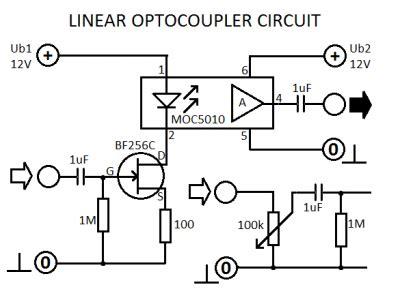 linear optocoupler circuitcircuit diagram world