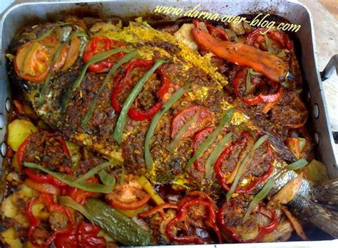 cuisiner le bar entier poisson farci au riz et crevettes darna
