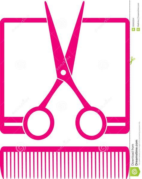 simple hairdresser icon  scissors  comb stock