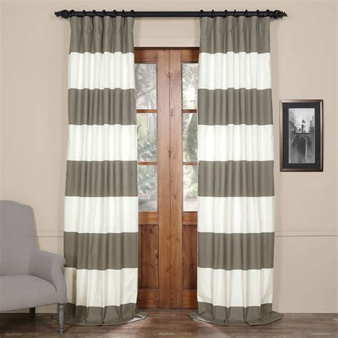 horizontal striped drapes outdoor