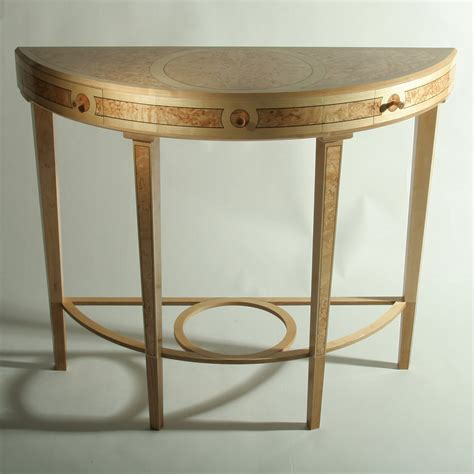 table demi lune cuisine small demilune console table furniture antique modern