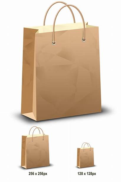 Bag Shopping Brown Graphic Icons Graphicsfuel Psd