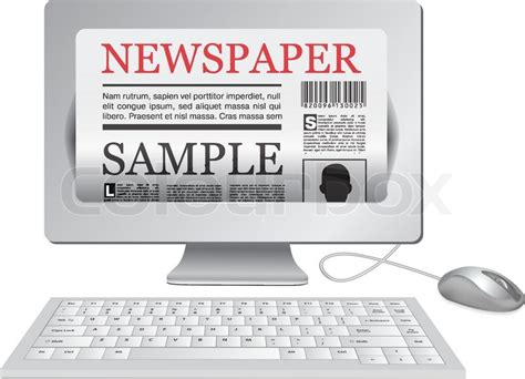 Online Newspaper Computer And News Website  Stock Vector Colourbox